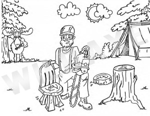 Lumberjack Colouring Book