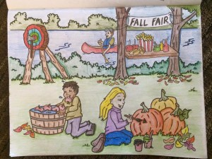 Wild Axe Lumberjack Colouring Book
